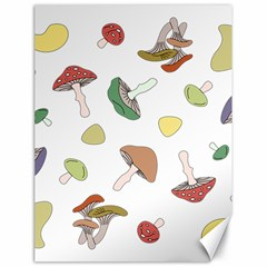 Mushrooms Pattern 02 Canvas 18  X 24   by Famous