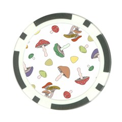 Mushrooms Pattern 02 Poker Chip Card Guards by Famous