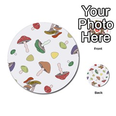 Mushrooms Pattern 02 Multi-purpose Cards (Round)  by Famous
