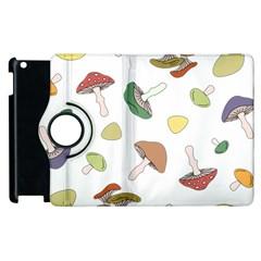 Mushrooms Pattern 02 Apple Ipad 3/4 Flip 360 Case by Famous