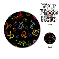 All Floating Zodiac Signs Multi Purpose Cards (round)