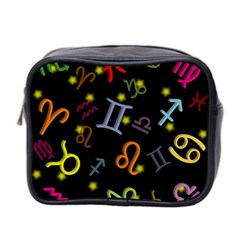 All Floating Zodiac Signs Mini Toiletries Bag 2 Side by theimagezone