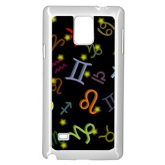 All Floating Zodiac Signs Samsung Galaxy Note 4 Case (white) by theimagezone