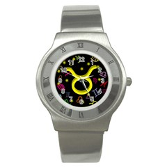 Taurus Floating Zodiac Sign Stainless Steel Watches by theimagezone