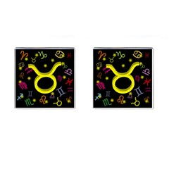 Taurus Floating Zodiac Sign Cufflinks (square) by theimagezone
