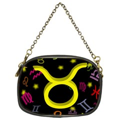 Taurus Floating Zodiac Sign Chain Purses (one Side)  by theimagezone