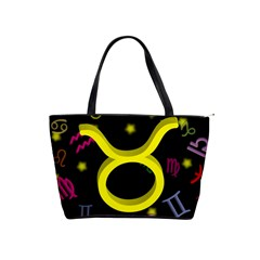 Taurus Floating Zodiac Sign Shoulder Handbags by theimagezone