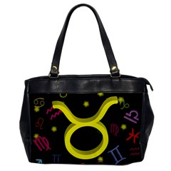 Taurus Floating Zodiac Sign Office Handbags by theimagezone