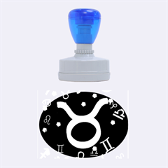 Taurus Floating Zodiac Sign Rubber Oval Stamps by theimagezone