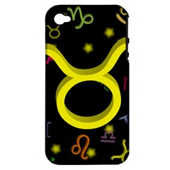 Taurus Floating Zodiac Sign Apple Iphone 4/4s Hardshell Case (pc+silicone) by theimagezone
