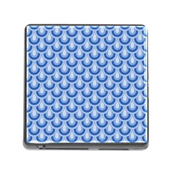 Awesome Retro Pattern Blue Memory Card Reader (square) by ImpressiveMoments