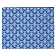 Awesome Retro Pattern Blue Cosmetic Bag (xxxl)  by ImpressiveMoments