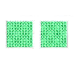 Awesome Retro Pattern Green Cufflinks (square) by ImpressiveMoments