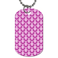Awesome Retro Pattern Lilac Dog Tag (two Sides) by ImpressiveMoments