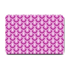 Awesome Retro Pattern Lilac Small Doormat  by ImpressiveMoments
