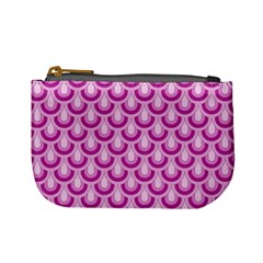 Awesome Retro Pattern Lilac Mini Coin Purses by ImpressiveMoments