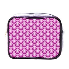 Awesome Retro Pattern Lilac Mini Toiletries Bags by ImpressiveMoments