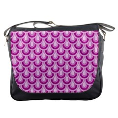 Awesome Retro Pattern Lilac Messenger Bags by ImpressiveMoments