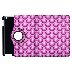 Awesome Retro Pattern Lilac Apple Ipad 3/4 Flip 360 Case by ImpressiveMoments