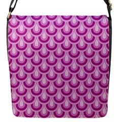 Awesome Retro Pattern Lilac Flap Messenger Bag (s) by ImpressiveMoments