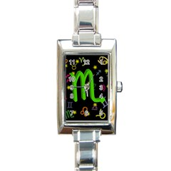 Scorpio Floating Zodiac Sign Rectangle Italian Charm Watches by theimagezone