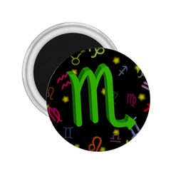 Scorpio Floating Zodiac Sign 2 25  Magnets by theimagezone