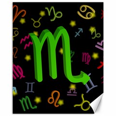 Scorpio Floating Zodiac Sign Canvas 11  x 14   by theimagezone
