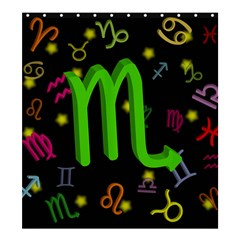 Scorpio Floating Zodiac Sign Shower Curtain 66  X 72  (large)  by theimagezone
