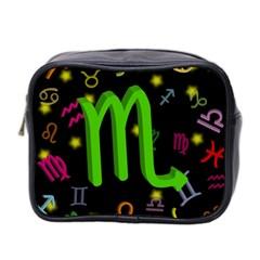 Scorpio Floating Zodiac Sign Mini Toiletries Bag 2 Side by theimagezone