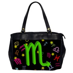 Scorpio Floating Zodiac Sign Office Handbags (2 Sides)  by theimagezone