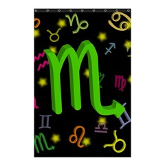 Scorpio Floating Zodiac Sign Shower Curtain 48  X 72  (small)  by theimagezone
