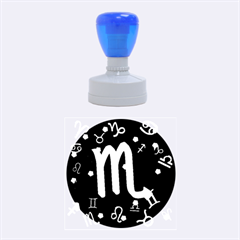 Scorpio Floating Zodiac Sign Rubber Round Stamps (medium) by theimagezone