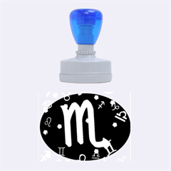 Scorpio Floating Zodiac Sign Rubber Oval Stamps by theimagezone