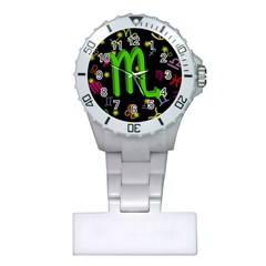 Scorpio Floating Zodiac Sign Nurses Watches by theimagezone