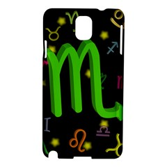 Scorpio Floating Zodiac Sign Samsung Galaxy Note 3 N9005 Hardshell Case by theimagezone