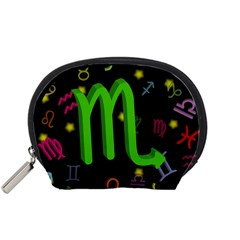 Scorpio Floating Zodiac Sign Accessory Pouches (small)  by theimagezone