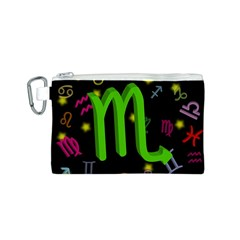 Scorpio Floating Zodiac Sign Canvas Cosmetic Bag (s) by theimagezone
