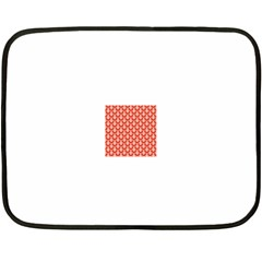 Awesome Retro Pattern Red Fleece Blanket (Mini)