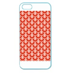 Awesome Retro Pattern Red Apple Seamless Iphone 5 Case (color) by ImpressiveMoments