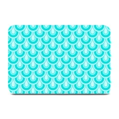 Awesome Retro Pattern Turquoise Plate Mats by ImpressiveMoments