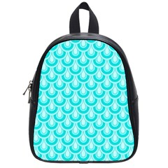 Awesome Retro Pattern Turquoise School Bags (small)  by ImpressiveMoments