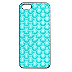 Awesome Retro Pattern Turquoise Apple Iphone 5 Seamless Case (black) by ImpressiveMoments