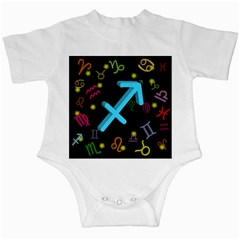 Sagittarius Floating Zodiac Sign Infant Creepers by theimagezone