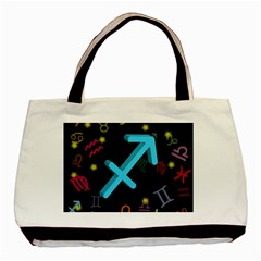 Sagittarius Floating Zodiac Sign Basic Tote Bag (two Sides)  by theimagezone