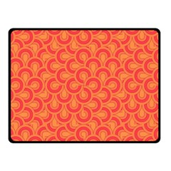 Retro Mirror Pattern Red Double Sided Fleece Blanket (small)  by ImpressiveMoments