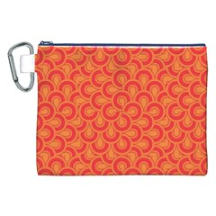 Retro Mirror Pattern Red Canvas Cosmetic Bag (XXL)  by ImpressiveMoments