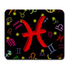 Pisces Floating Zodiac Sign Large Mousepads by theimagezone