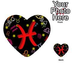 Pisces Floating Zodiac Sign Playing Cards 54 (heart)  by theimagezone