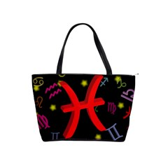 Pisces Floating Zodiac Sign Shoulder Handbags by theimagezone
