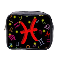 Pisces Floating Zodiac Sign Mini Toiletries Bag 2 Side by theimagezone